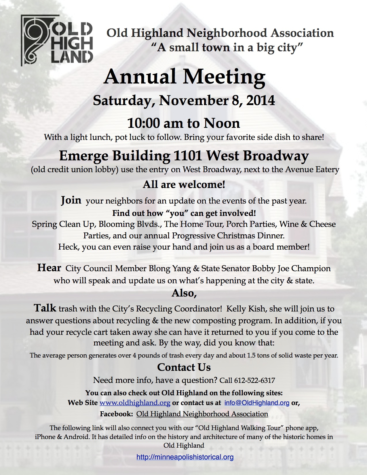 Annual Meeting Flyer 2014